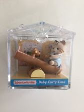 Sylvanian Families - Baby Carry Case - Striped Cat Baby with See-Saw