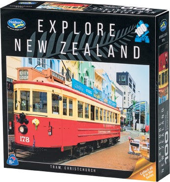Explore New Zealand 100pc Puzzle - Tram, Christchurch