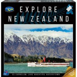 Explore New Zealand 100pc  Puzzle - SS Earnslaw, Lake Wakatipu