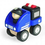 PinToy - Wooden Blue Police Vehicle