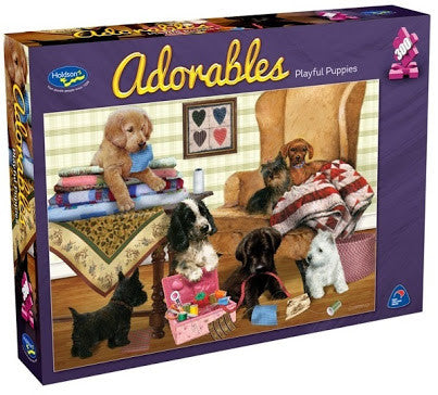 Holdson 300pc Puzzle Adorables - Playful Puppies