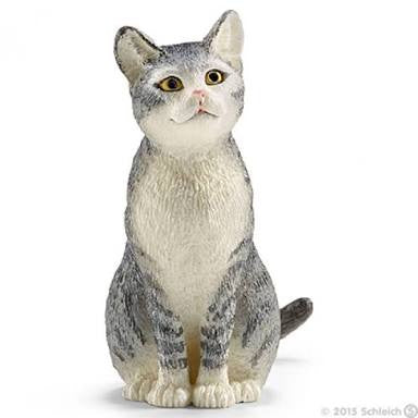 Schleich - Grey Cat, Sitting