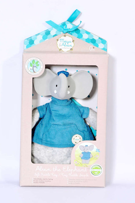 Meiya & Alvin: Meiya the Mouse Flat Soft Rattle Toy