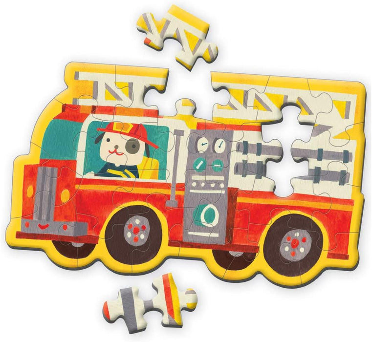 Mudpuppy - Mini Shaped Puzzles Fire Truck