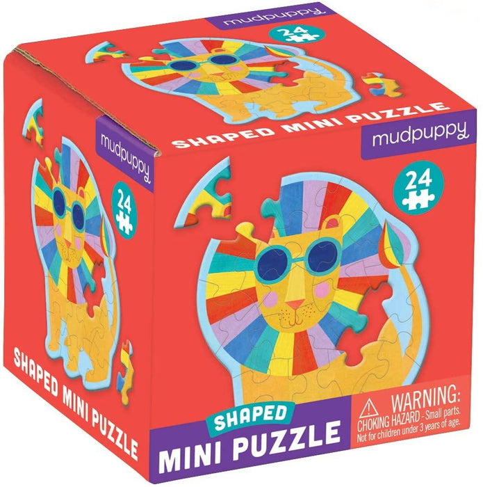 Mudpuppy - Mini Shaped Puzzles Rainbow Lion