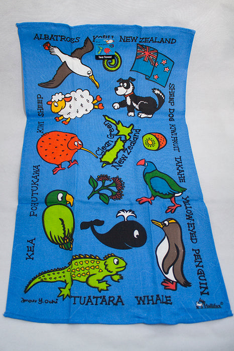 Kiwi Characters Tea Towel
