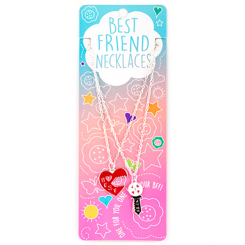 Best Friends Necklaces - Lock Heart and Key