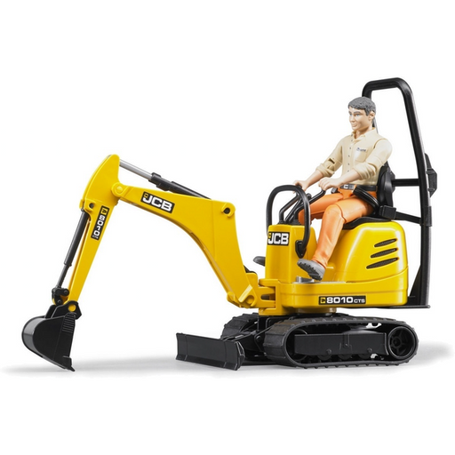 Bruder - JCB Micro Excavator 8010 CTS with Construction Worker