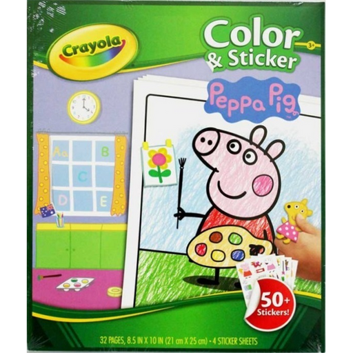 Crayola - Colour & Sticker Book - Peppa Pig