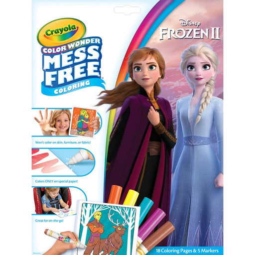 Crayola - Disney Frozen II - Colour Wonder Mess Free Colouring Pad & Markers