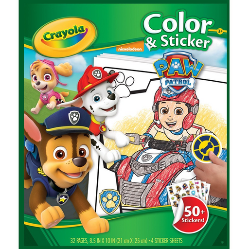Crayola - Colour & Sticker Book - Paw Patrol