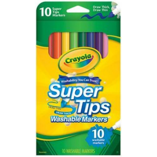 Crayola - Super Tips Washable Markers (10pcs)