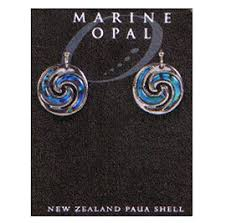 Marine Opal - Double Koru Earrings