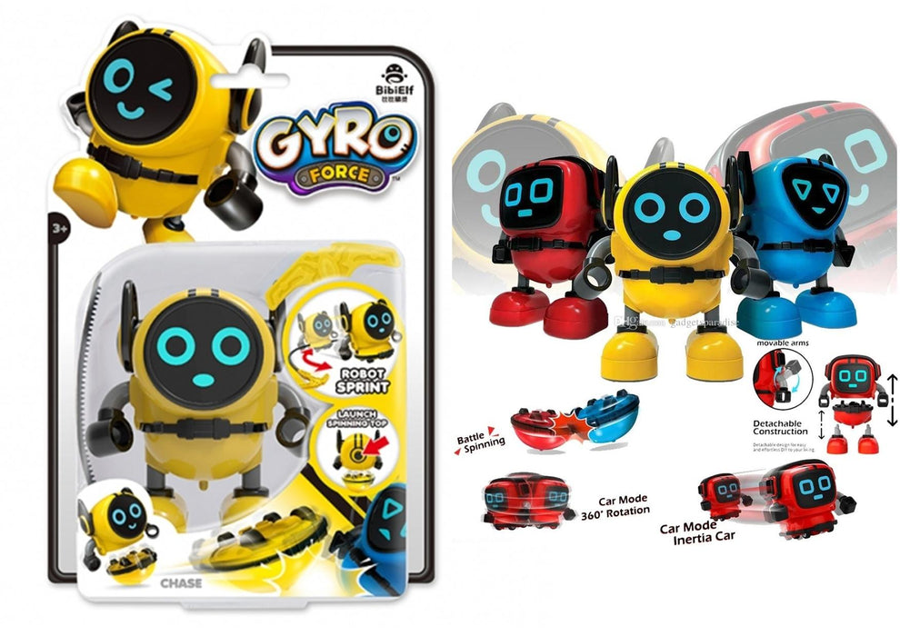 Gyro Force Robot - Chase (Yellow)