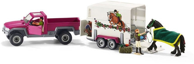 Schleich- Pick Up with Horse Box