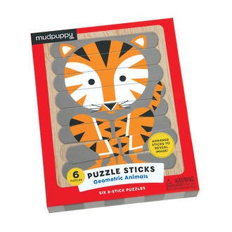 Mudpuppy - Geometric Animals Puzzle Sticks