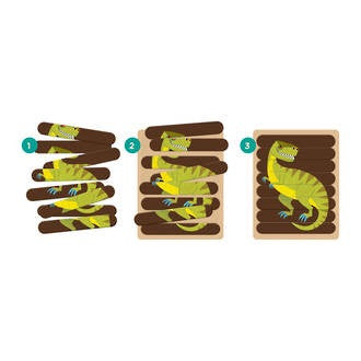 Mudpuppy - Mighty Dino Puzzle Sticks