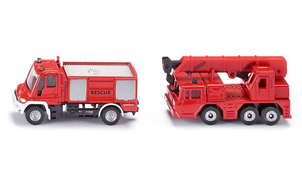 Siku - Mercedes Unimog Fire Truck and Crane #1661
