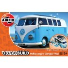 Airfix Quick Build - Volkswagen Camper Van (Blue & White)