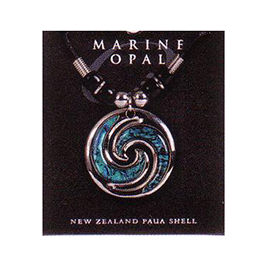 Marine Opal - Double Koru Beaded Choker