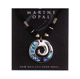 Marine Opal - Enclosed Koru Choker