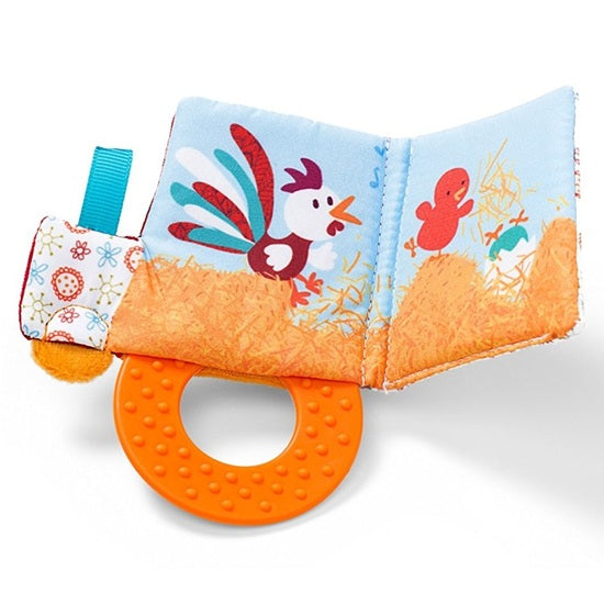 Lilliputiens Teether Book Ophelie Chicken