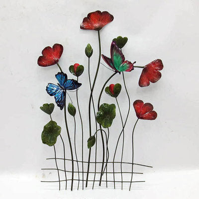 Wall Art: Poppies with Butterflies