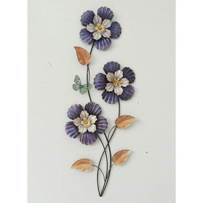 Wall Art - Purple Flowers with Butterfly