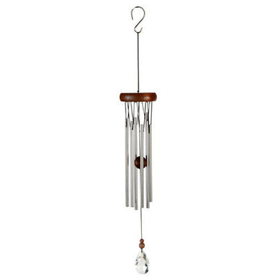 "Natures Melody - Gem Chime 18"" - Silver / Walnut"