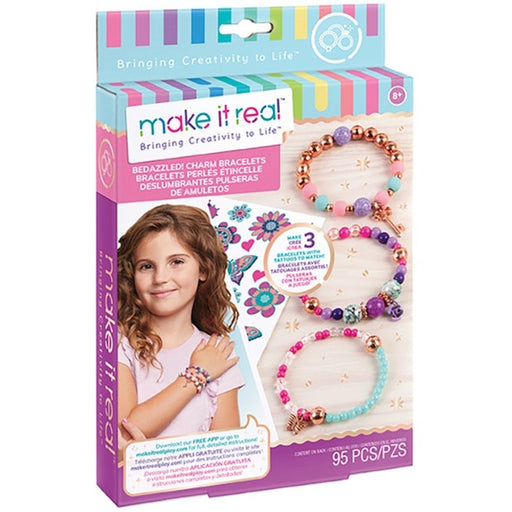Make It Real - Bedazzled Charm Bracelets