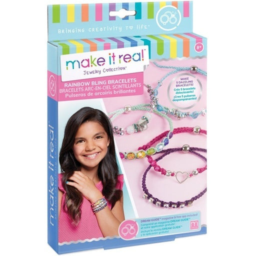 Make it Real - Jewelry Collection - Rainbow Bling Bracelets