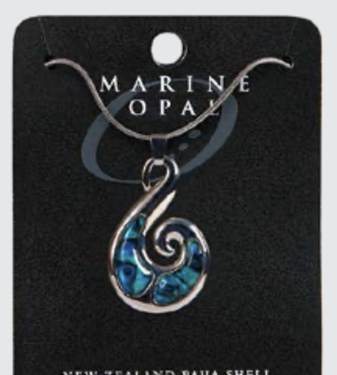Marine Opal - Curved Fish Hook Snake Chain