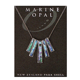 Marine Opal - Paua 5 Rod Necklace