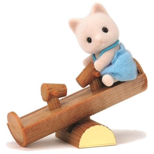 Sylvanian Families - Cat Baby with See-Saw