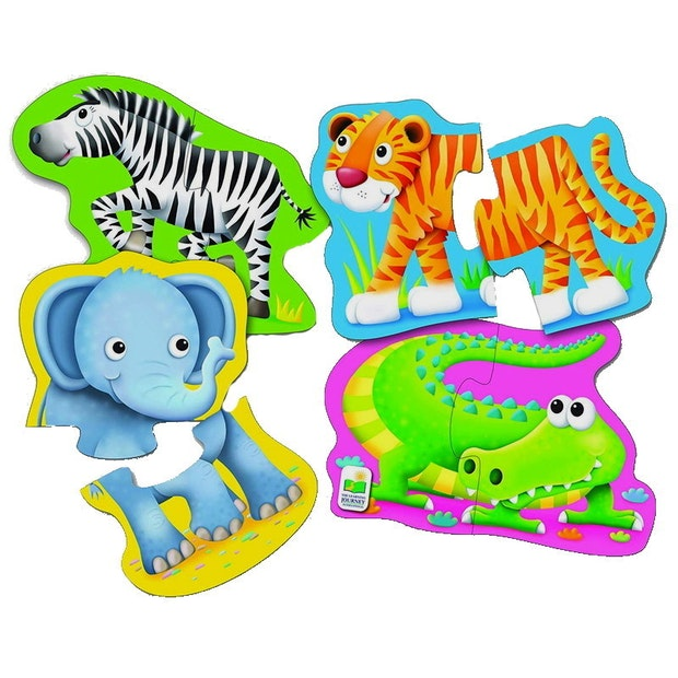 The Learning Journey: First Shaped Puzzle - Safari Friends