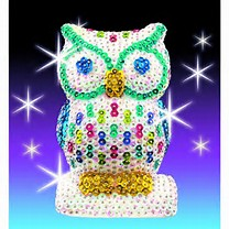 3D Sequin Art - Owl