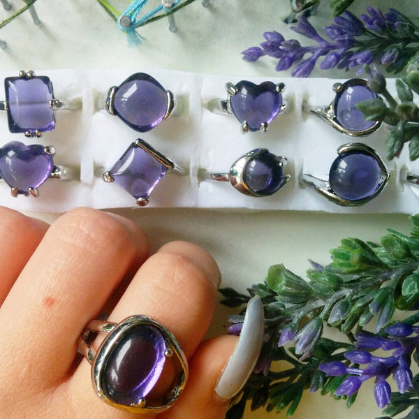 AMETHYST WATERFALL RING - PLUTO'S EGO - 2