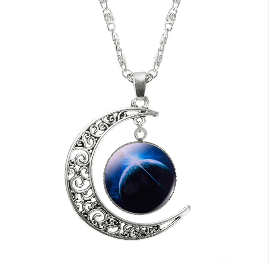ASPIRE CRESCENT MOON PENDANT *CHOICE OF COLOURS* - PLUTO'S EGO - 5