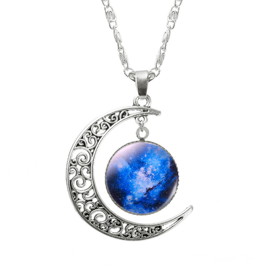 ASPIRE CRESCENT MOON PENDANT *CHOICE OF COLOURS* - PLUTO'S EGO - 7