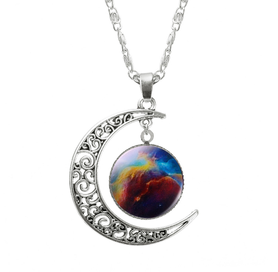 ASPIRE CRESCENT MOON PENDANT *CHOICE OF COLOURS* - PLUTO'S EGO - 9