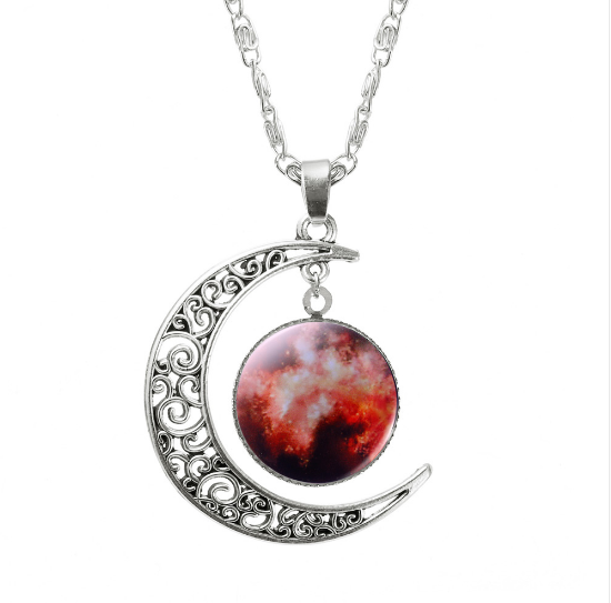 ASPIRE CRESCENT MOON PENDANT *CHOICE OF COLOURS* - PLUTO'S EGO - 10