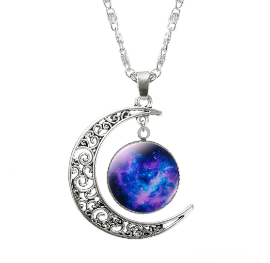 ASPIRE CRESCENT MOON PENDANT *CHOICE OF COLOURS* - PLUTO'S EGO - 12