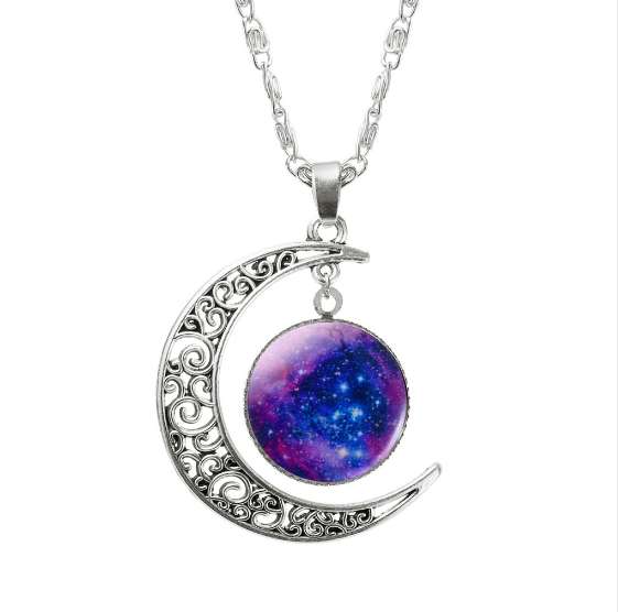 ASPIRE CRESCENT MOON PENDANT *CHOICE OF COLOURS* - PLUTO'S EGO - 13