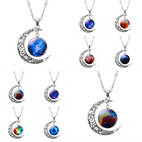 ASPIRE CRESCENT MOON PENDANT *CHOICE OF COLOURS* - PLUTO'S EGO - 1