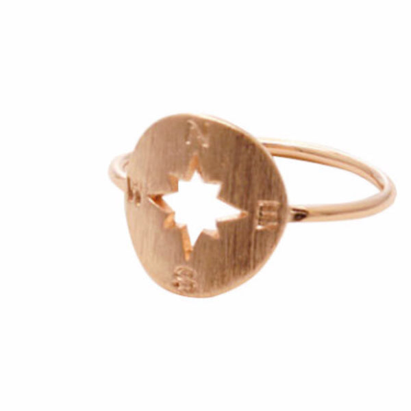 COMPASS RING *Rose gold or silver plated* - PLUTO'S EGO - 2