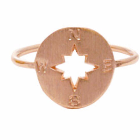 COMPASS RING *Rose gold or silver plated* - PLUTO'S EGO - 1