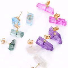 CRYSTAL LOVE EARRINGS *Choice of colours* - PLUTO'S EGO - 1