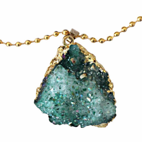 DRUZY CRYSTAL NECKLACE - PLUTO'S EGO - 1