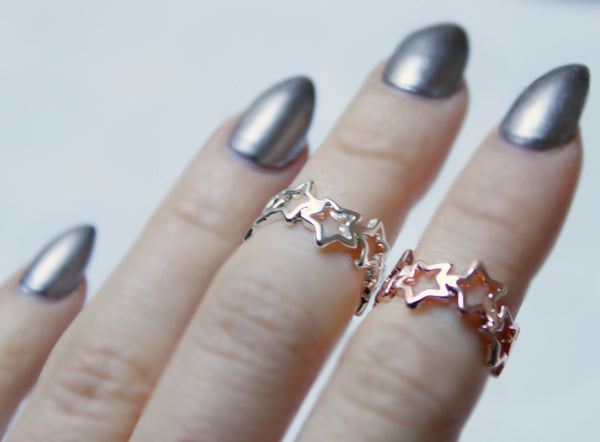 SUMMER NIGHT MIDI RING *Silver plated or rose gold* - PLUTO'S EGO - 2
