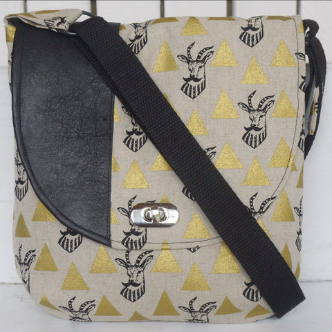 Bag - Cross Body Antelope Gold
